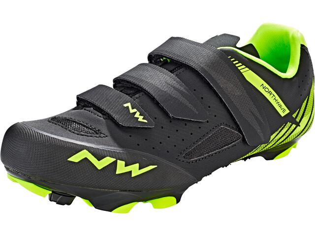 Northwave Origin Shoes Herre black/yellow fluo